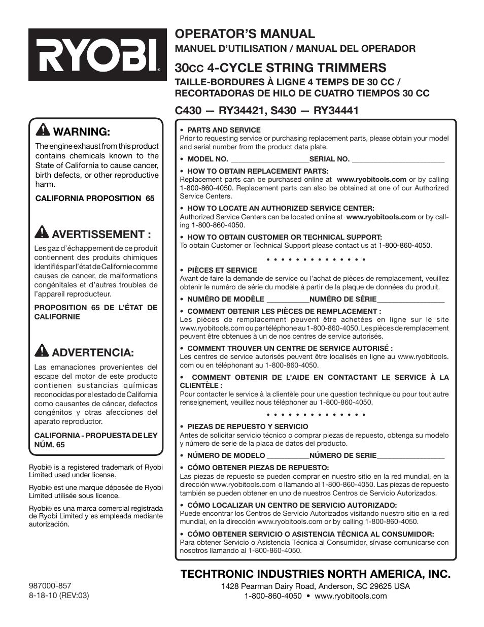 Operation, warning | ryobi cordless drill driver hp61 user manual.