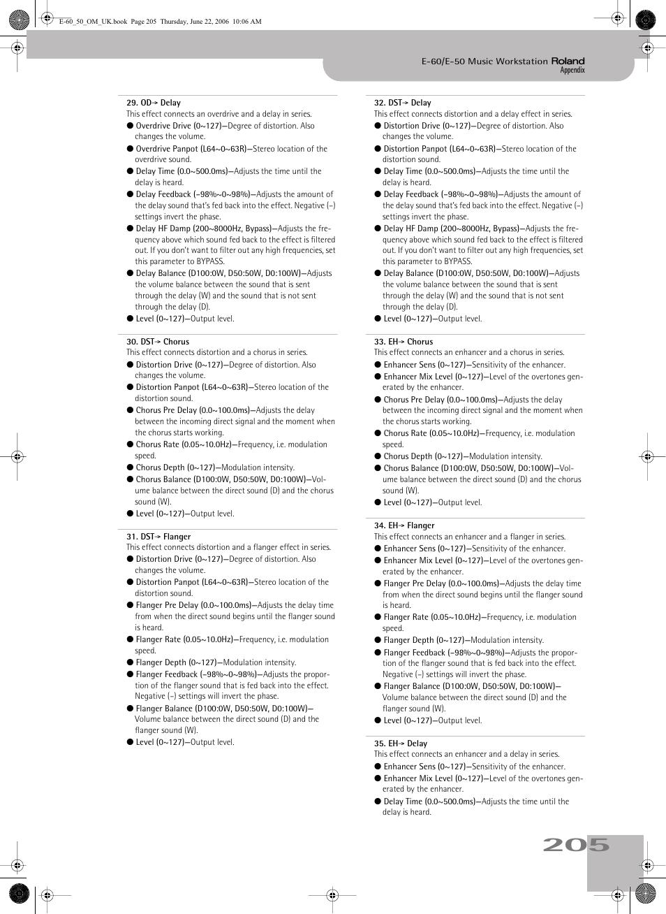 Roland E-60 User Manual   Page 205 / 220   Original mode