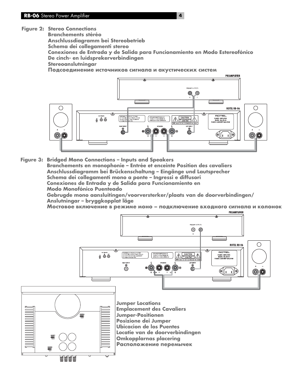 ROTEL RB-06 User Manual | Page 4 / 42