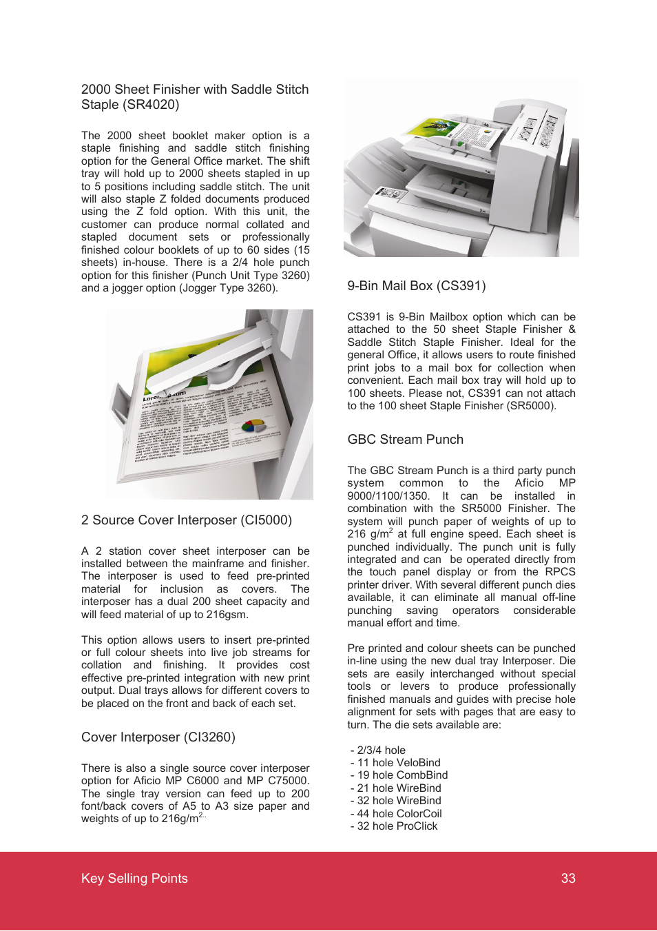 Ricoh MP C7500 User Manual | Page 33 / 72 | Also for: MP C6000