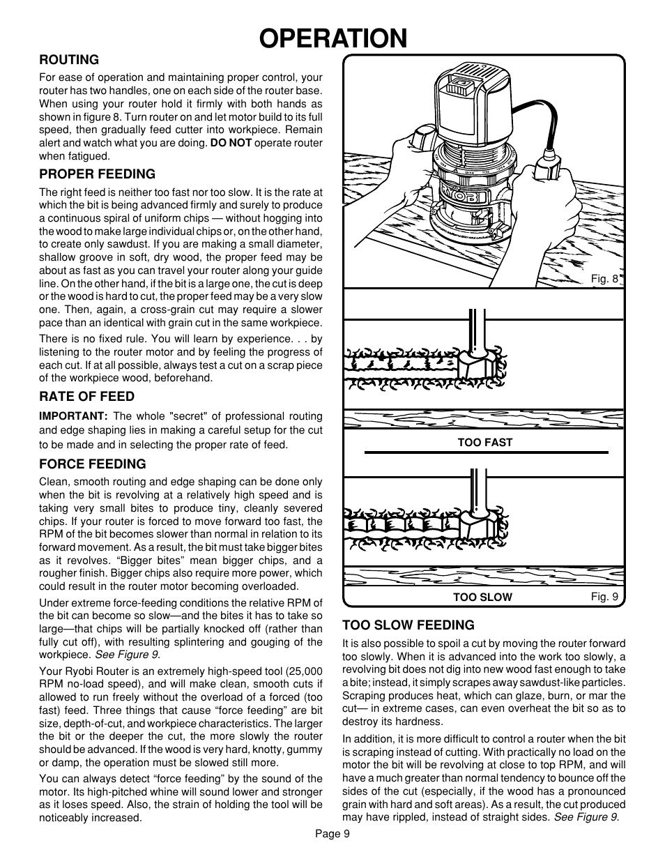 operation ryobi r160 user manual page 9 17 original mode rh manualsdir com