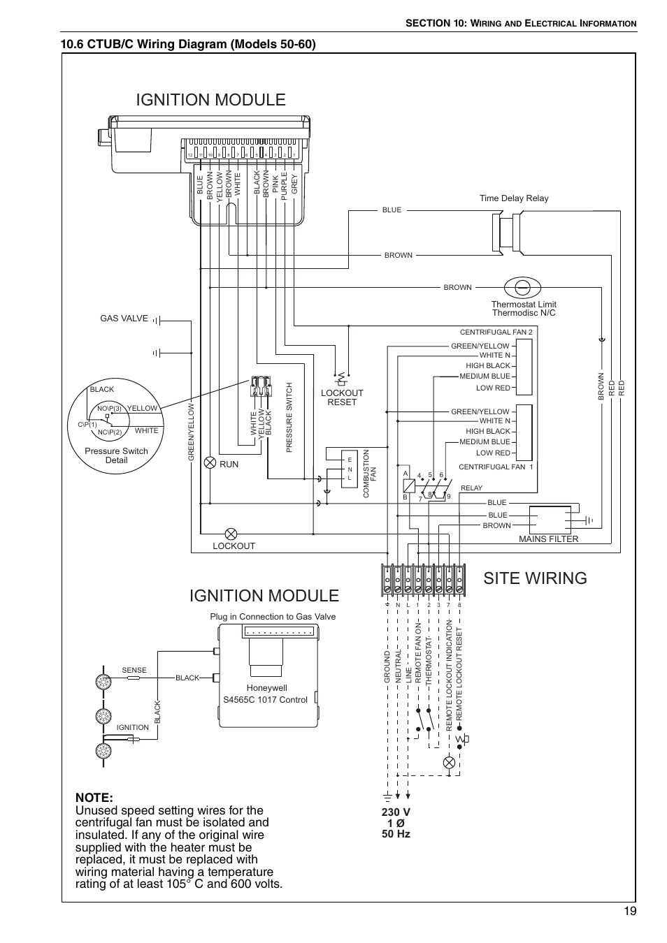 6 Ctub C Wiring Diagram Models 50 60 Ignition Module Site Centrifugal Fan Roberts Gorden Combat Ctu 22 To 115 User Manual Page 25 51