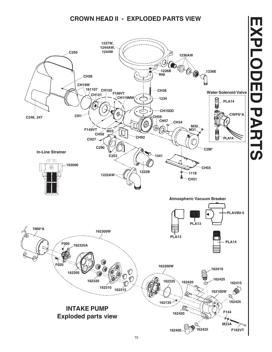 raritan crown head parts diagram