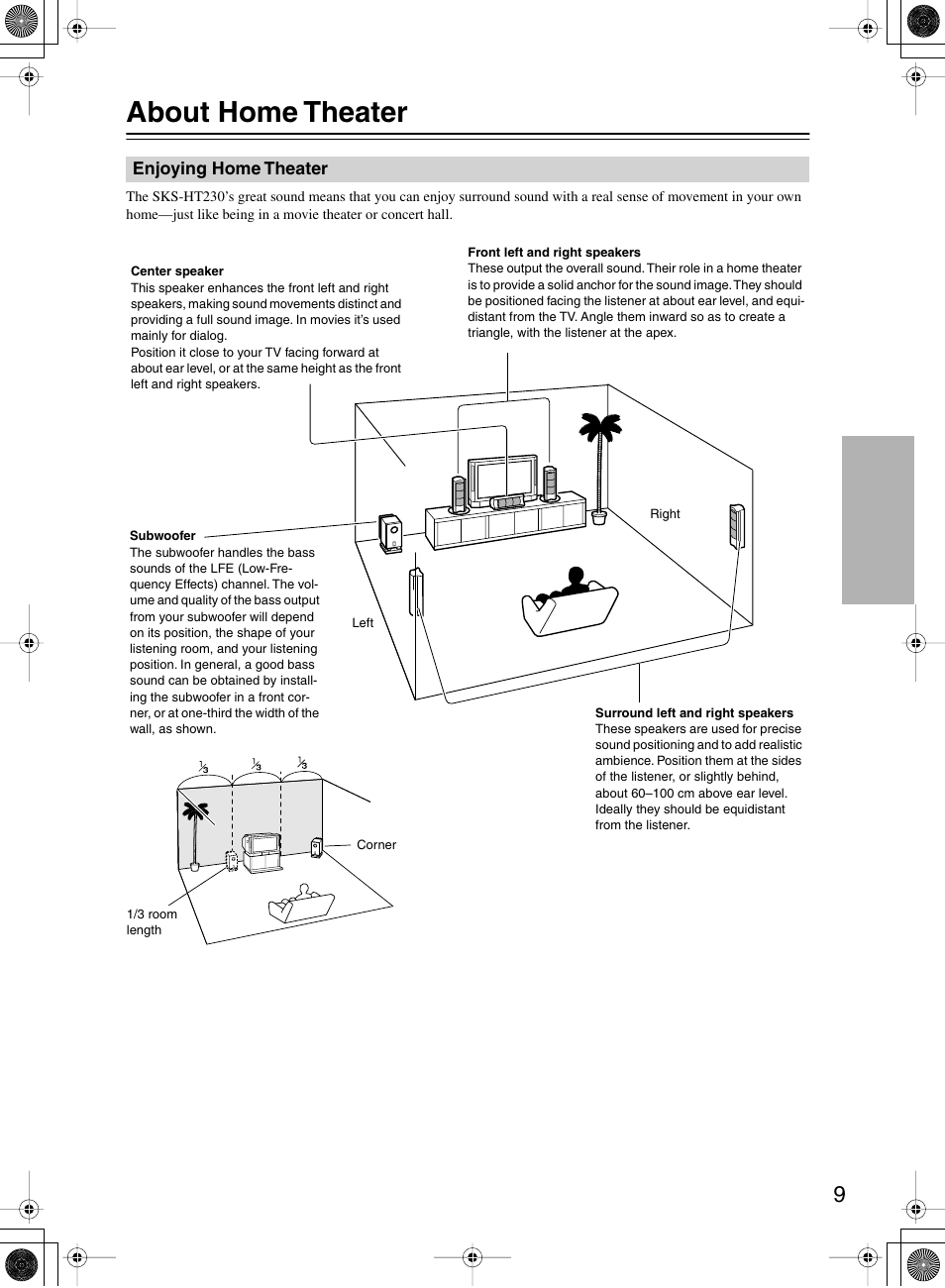about home theater onkyo skw 150x user manual page 9 12 rh manualsdir com Home Theater Design Tools Home Theater Seats
