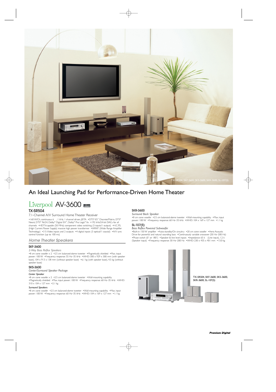 Onkyo Sl 107s User Manual 8 Pages Speakers A Center Speaker And Two Surround Powered