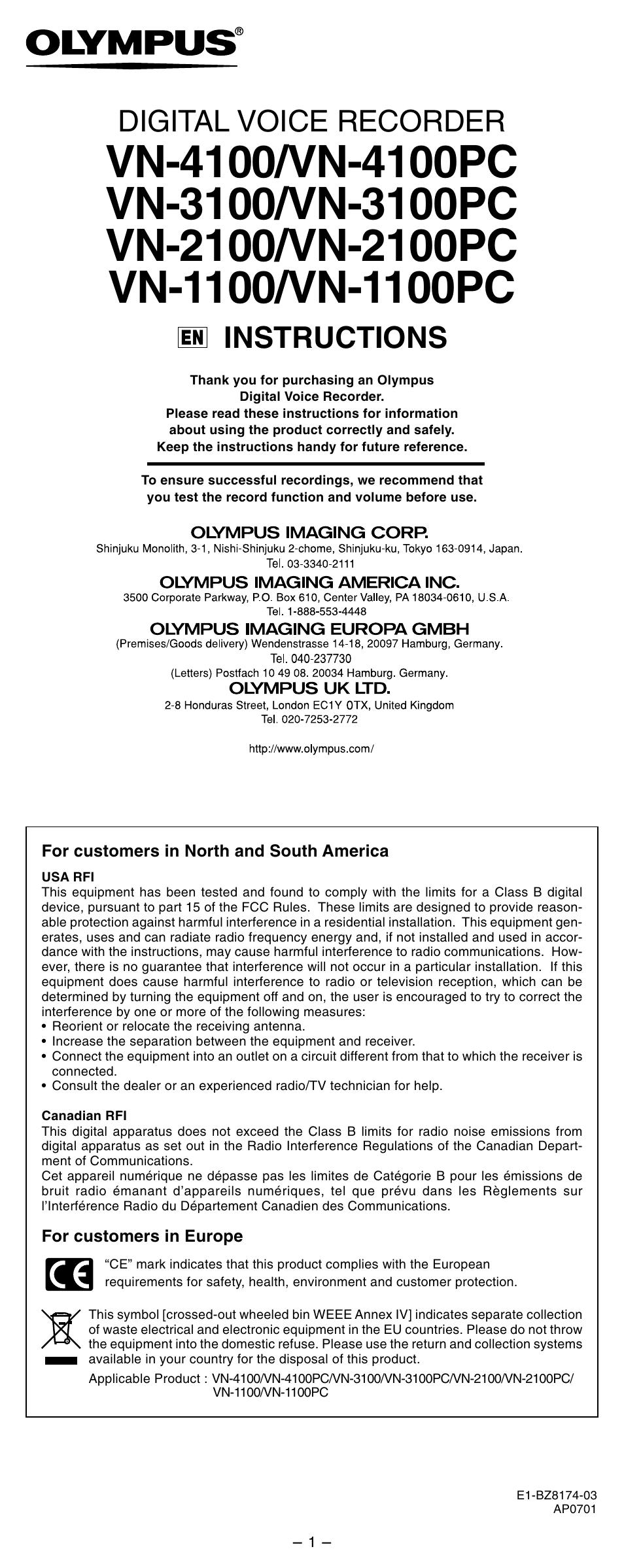 olympus vn 3100 user manual 10 pages also for vn 3100pc rh manualsdir com olympus vn-3100pc manual en español olympus digital voice recorder vn-3100pc manual español