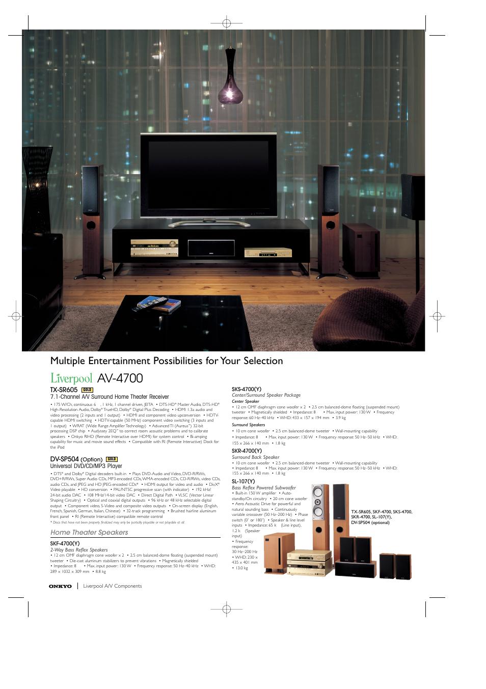 av 4700 tx sr605 dv sp504 onkyo dx 7355 user manual page 8 8 rh manualsdir com Best Onkyo Home Theater System Onkyo Home Theater System