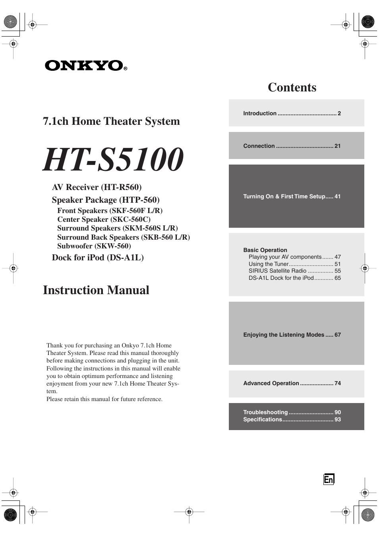 onkyo ht s5100 user manual 96 pages rh manualsdir com onkyo receiver ht-r560 manual onkyo ht-r560 review