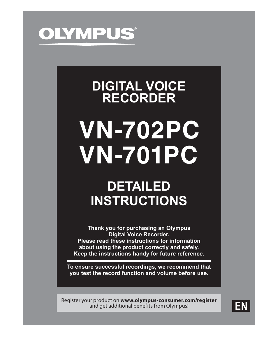 olympus vn 702pc user manual 45 pages also for vn 701pc rh manualsdir com Accessories Olympus VN-702PC Olympus VN-702PC Display