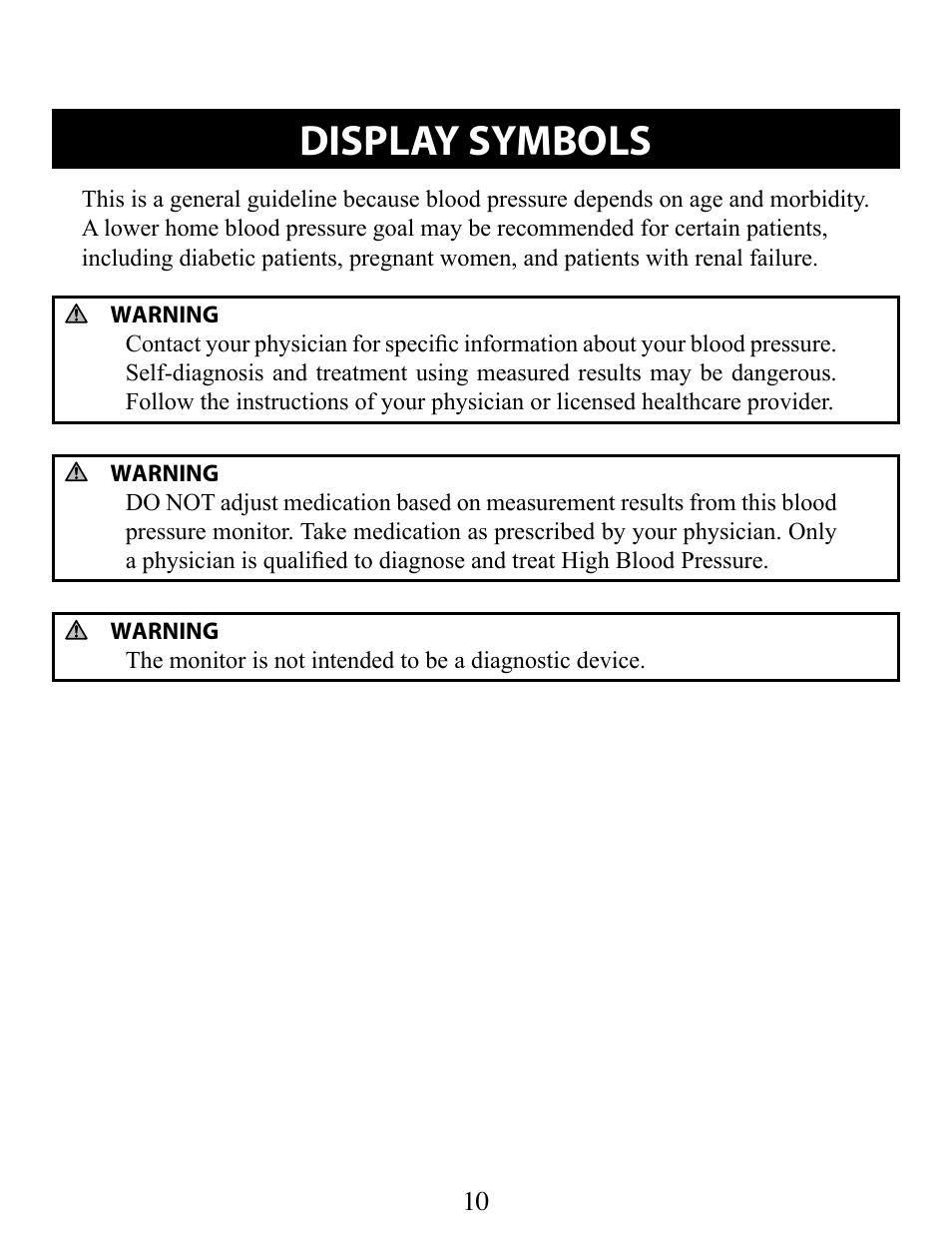Display Symbols Omron Healthcare Bp652 User Manual Page 10 30