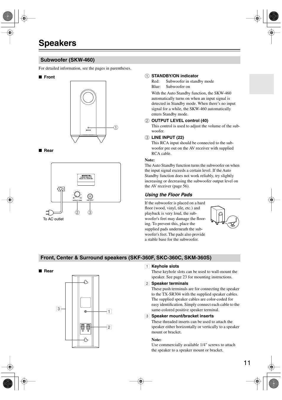 speakers subwoofer skw 460 onkyo ht s4100 user manual page 11 rh manualsdir com