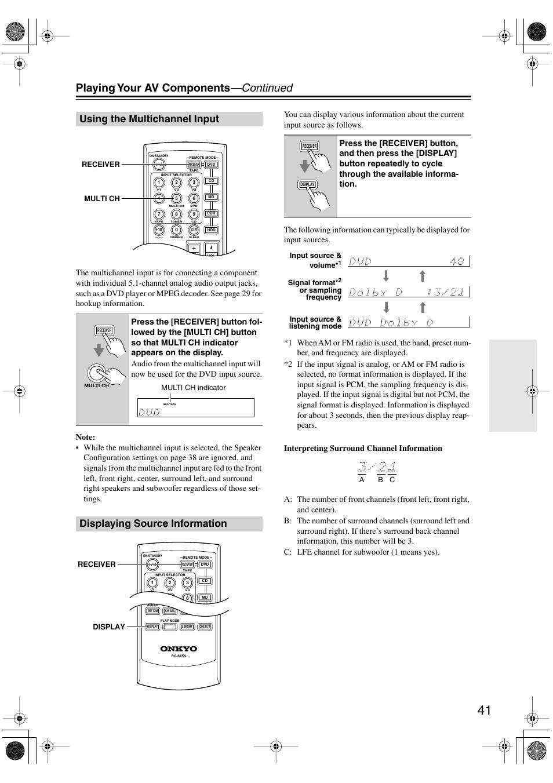 using the multichannel input displaying source information utton rh manualsdir com