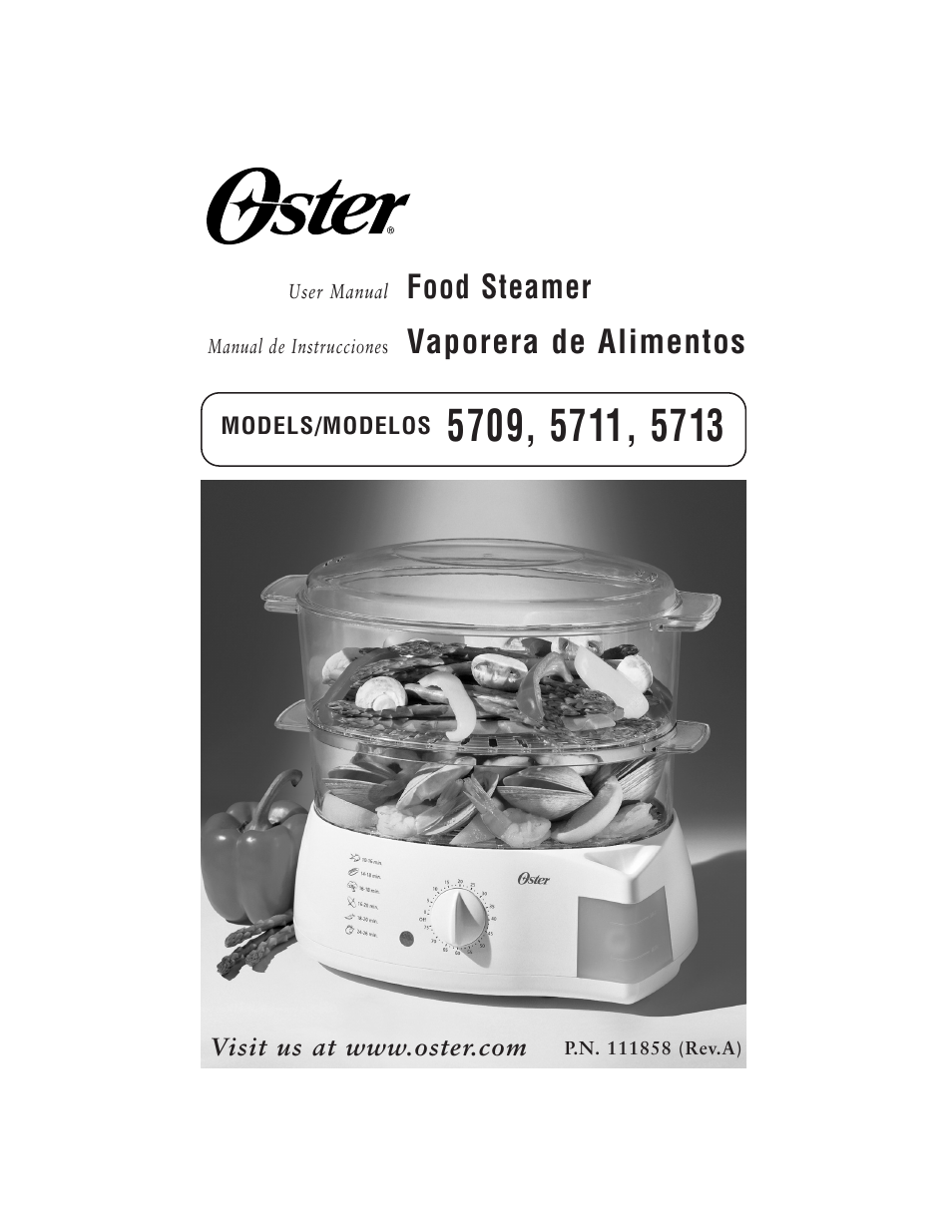 oster 5711 user manual 23 pages also for 5709 5713 rh manualsdir com oster 5711 steamer instruction manual oster 5711 steamer instruction manual