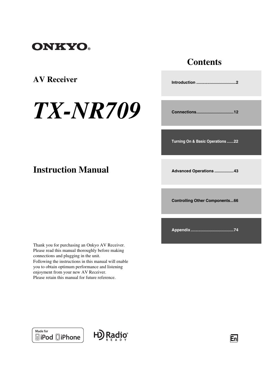 onkyo tx nr709 user manual 96 pages rh manualsdir com onkyo tx-nr709 instruction manual onkyo tx-nr709 service manual