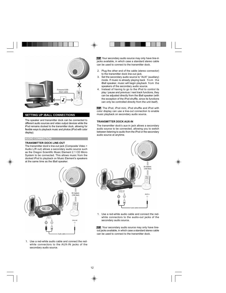 Oregon Scientific Ib368 User Manual Page 12 18 Original Mode 30 Pin Ipod Cable To Usb Wire Schematic