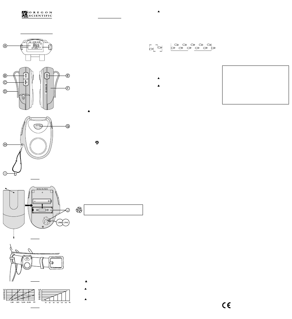 oregon scientific pedometer with panic alarm pe319 user manual 1 page rh manualsdir com Oregon Scientific AH200 Oregon Scientific Parts
