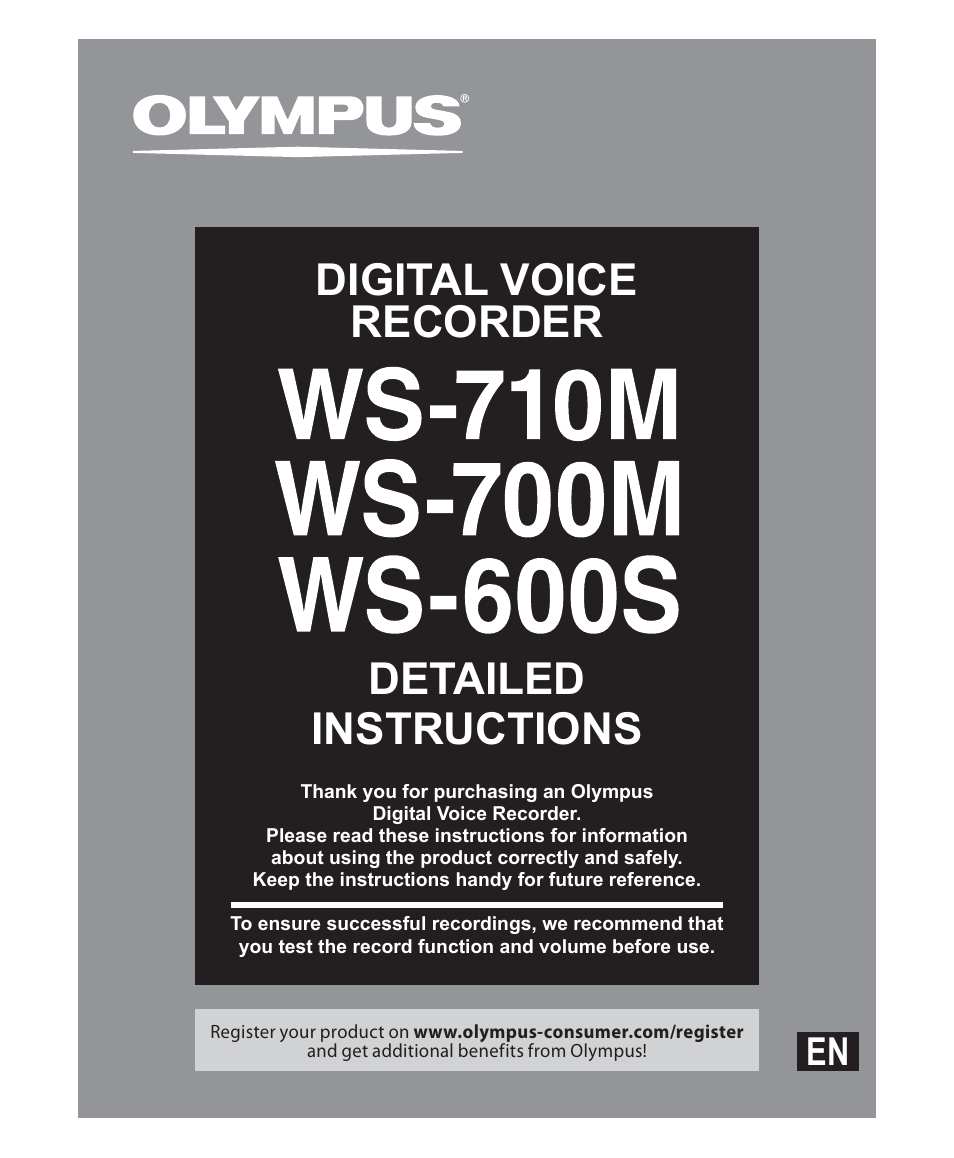 olympus ws 700m user manual 92 pages also for ws 600s ws 710m rh manualsdir com Olympus Voice Recorder VN-5000 Olympus Digital Voice Recorder