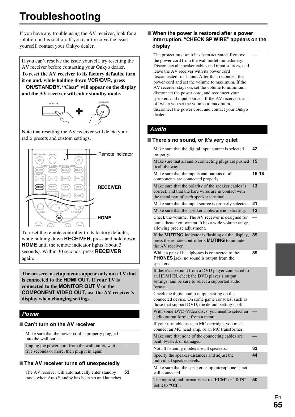 Onkyo ht rc360 manual onkyo ht rc360 array appendix troubleshooting onkyo 7 2 channel network audio video rh manualsdir com fandeluxe Image collections