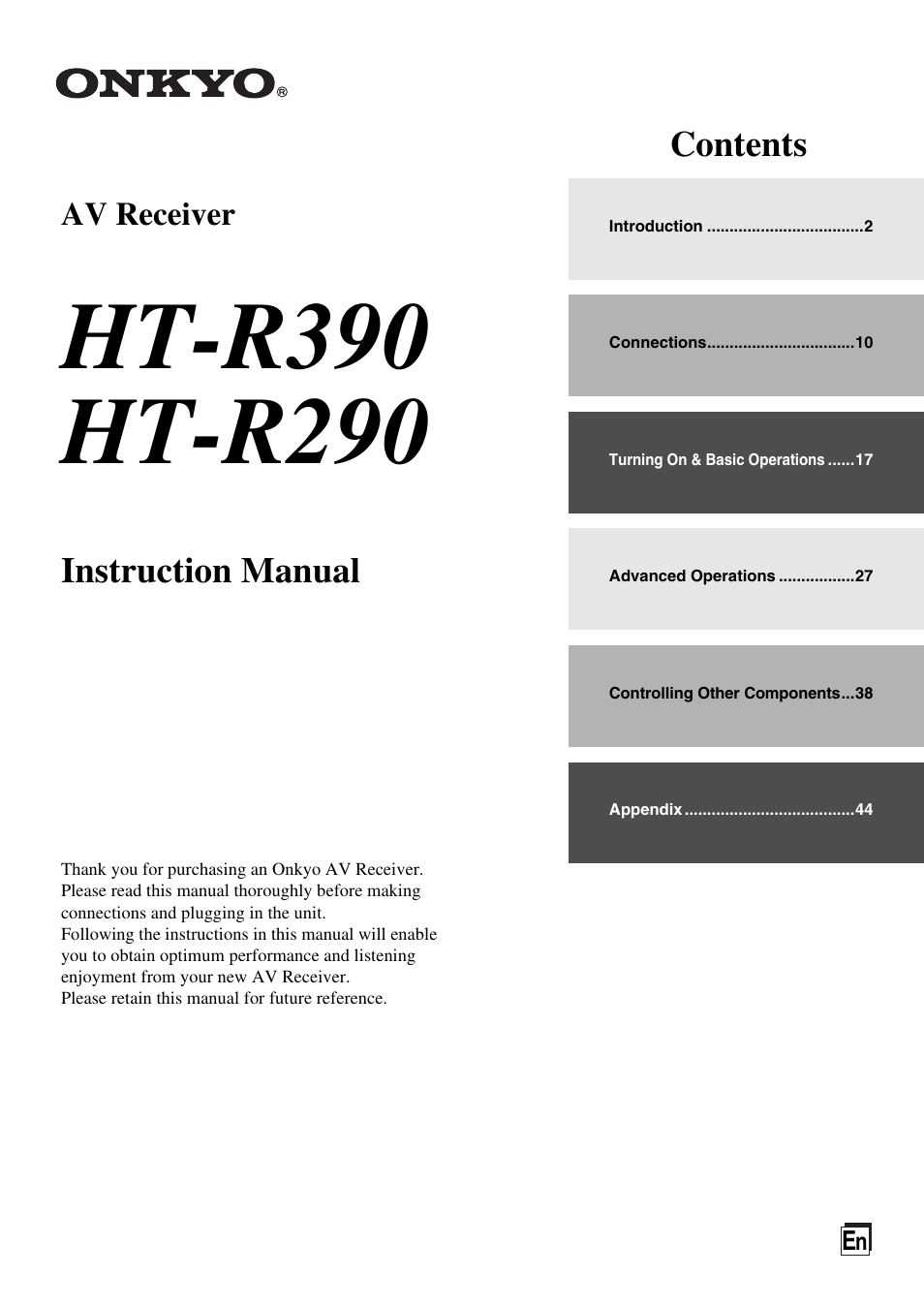 onkyo ht r390 user manual 56 pages also for ht r290 rh manualsdir com  onkyo cr 315 review