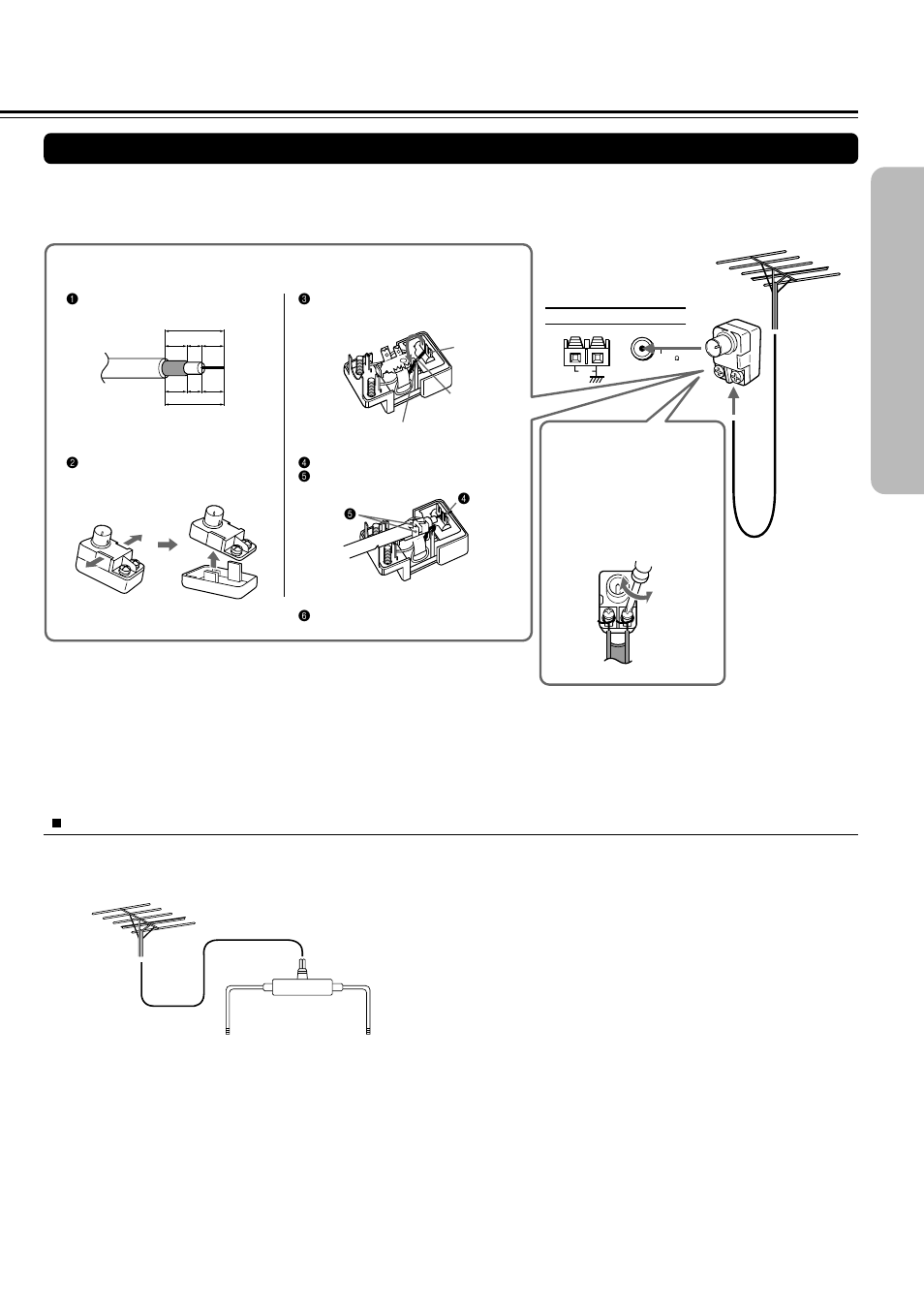 Connecting An Fm Outdoor Antenna Aerial Directional Iinkage Trouble With Tv Using Vcr And Cable Splitter Onkyo Dr S20 User Manual Page 15 72