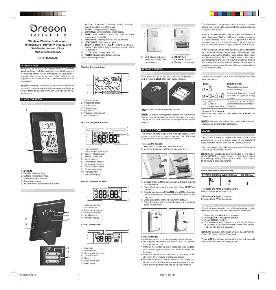 oregon bar388hga user manual