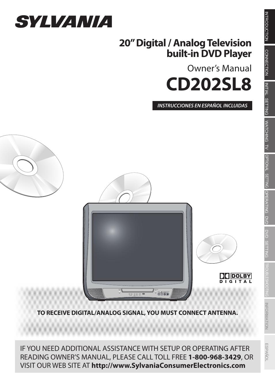 sylvania cd202sl8 user manual 84 pages rh manualsdir com DVD Player Haier W 10 Inch Portable DVD Players