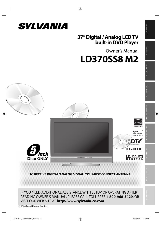 Sylvania LD370SS8 User Manual | 96 pages