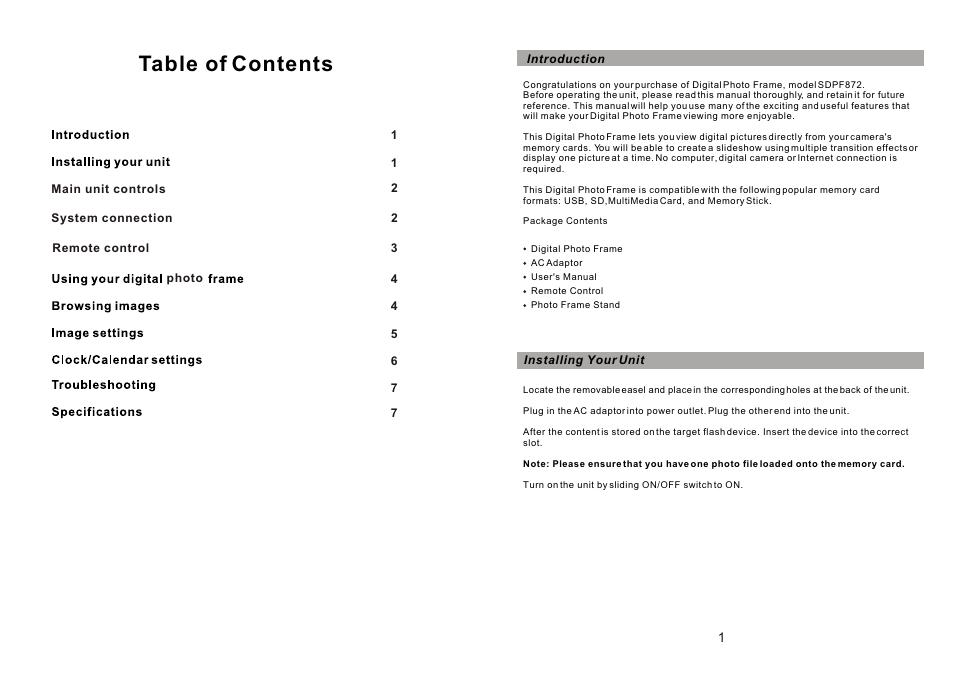 Sylvania SDPF872 User Manual | Page 2 / 5