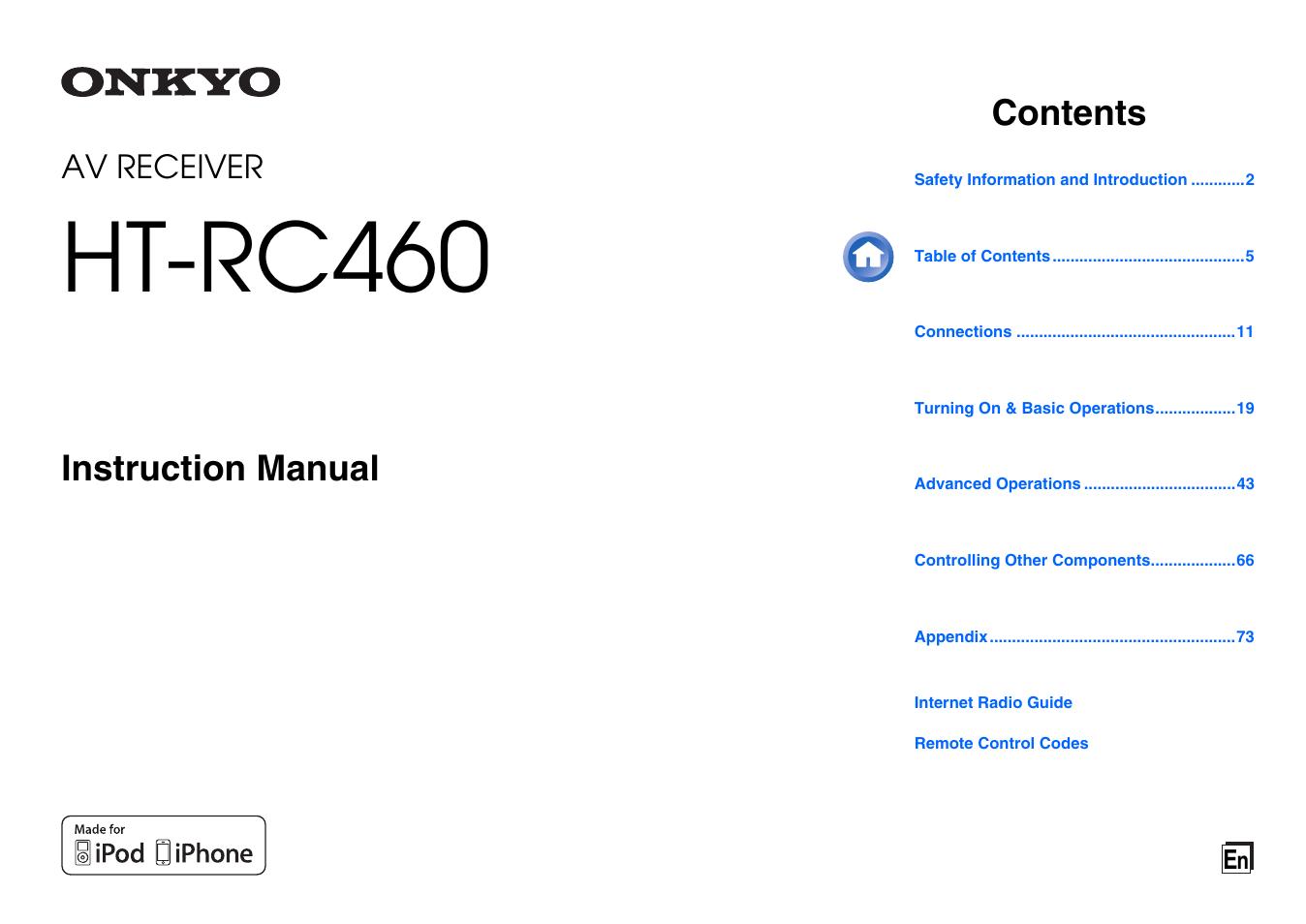 onkyo av receiver ht rc460 user manual 140 pages rh manualsdir com Old Onkyo Receivers Onkyo HT R340 Service Manual