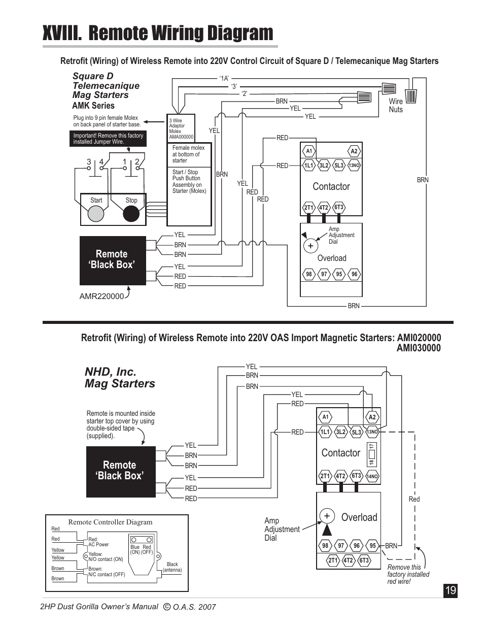 oneida-air-systems-super-dust-gorilla-page20  Wire Start Stop Diagram on push button start stop diagram, 2 wire start stop diagram, 3-way switch diagram, contactor wiring diagram, start stop station diagram, motor starter wiring diagram, stop start motor diagram, motor start circuit diagram, 5 wire start stop diagram, 3 wire tail light ezgo, start stop switch diagram, 3 phase motor control wiring diagram,