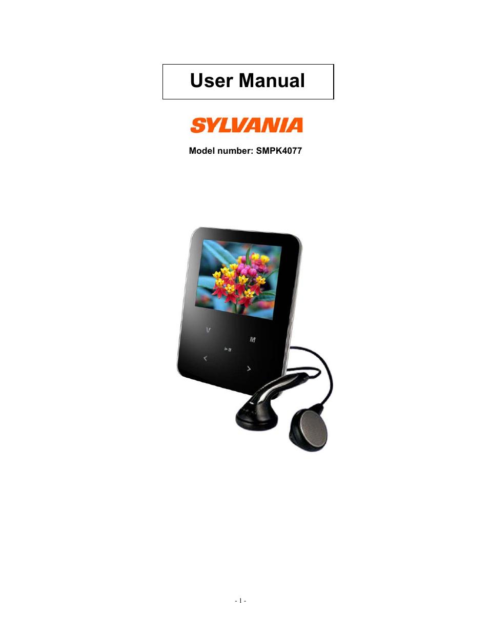 sylvania smpk4077 user manual 18 pages rh manualsdir com Sylvania MP3 Player Support Sylvania MP3 Player Review