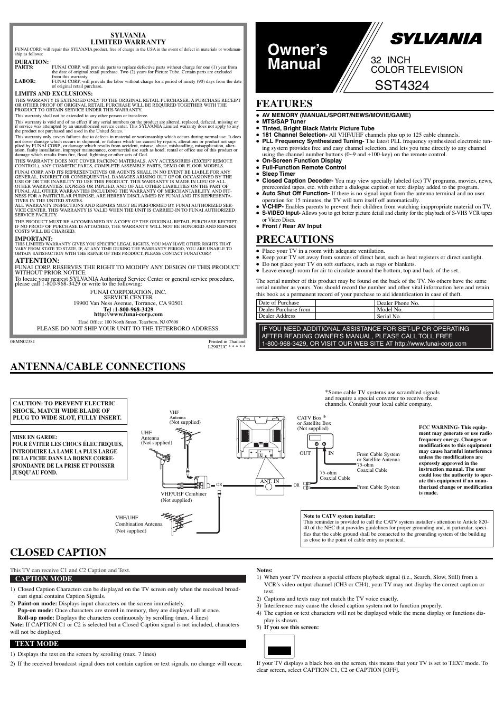 sylvania instruction manuals