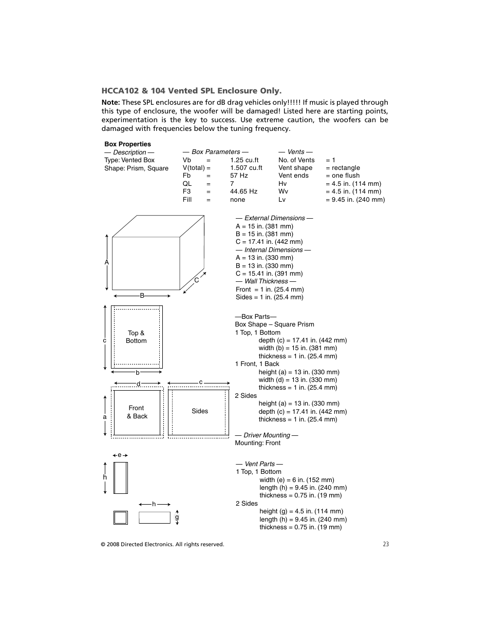 Orion Car Audio HCCA COMPETITION HCCA154 User Manual | Page 24 / 94 | Also  for: HCCA COMPETITION HCCA122, HCCA COMPETITION HCCA104, HCCA COMPETITION  HCCA102 ...