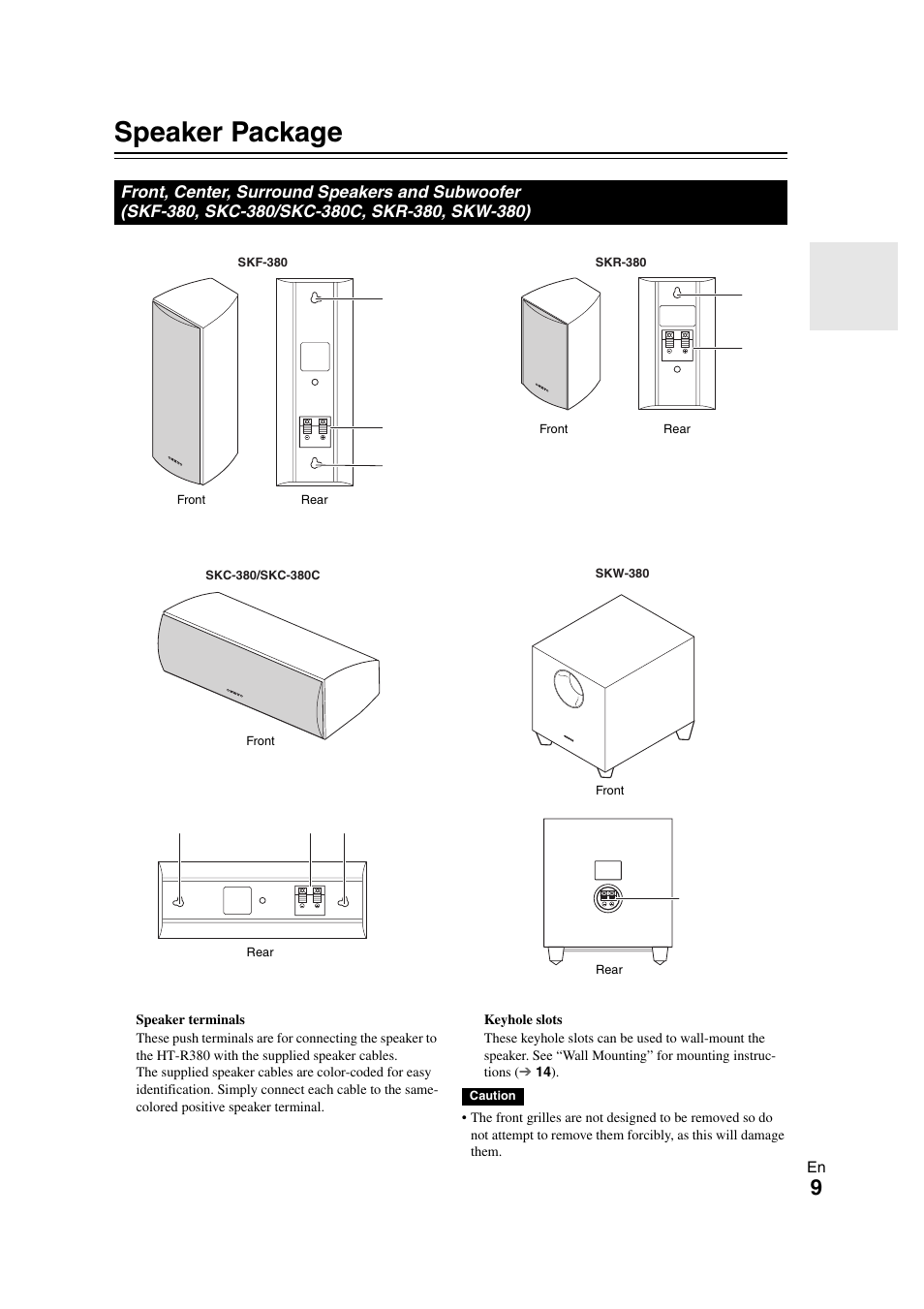 Onkyo S3300 Manual Schematics York Wiring B1hp Array Speaker Package Ht User Page 9 56 Rh Manualsdir