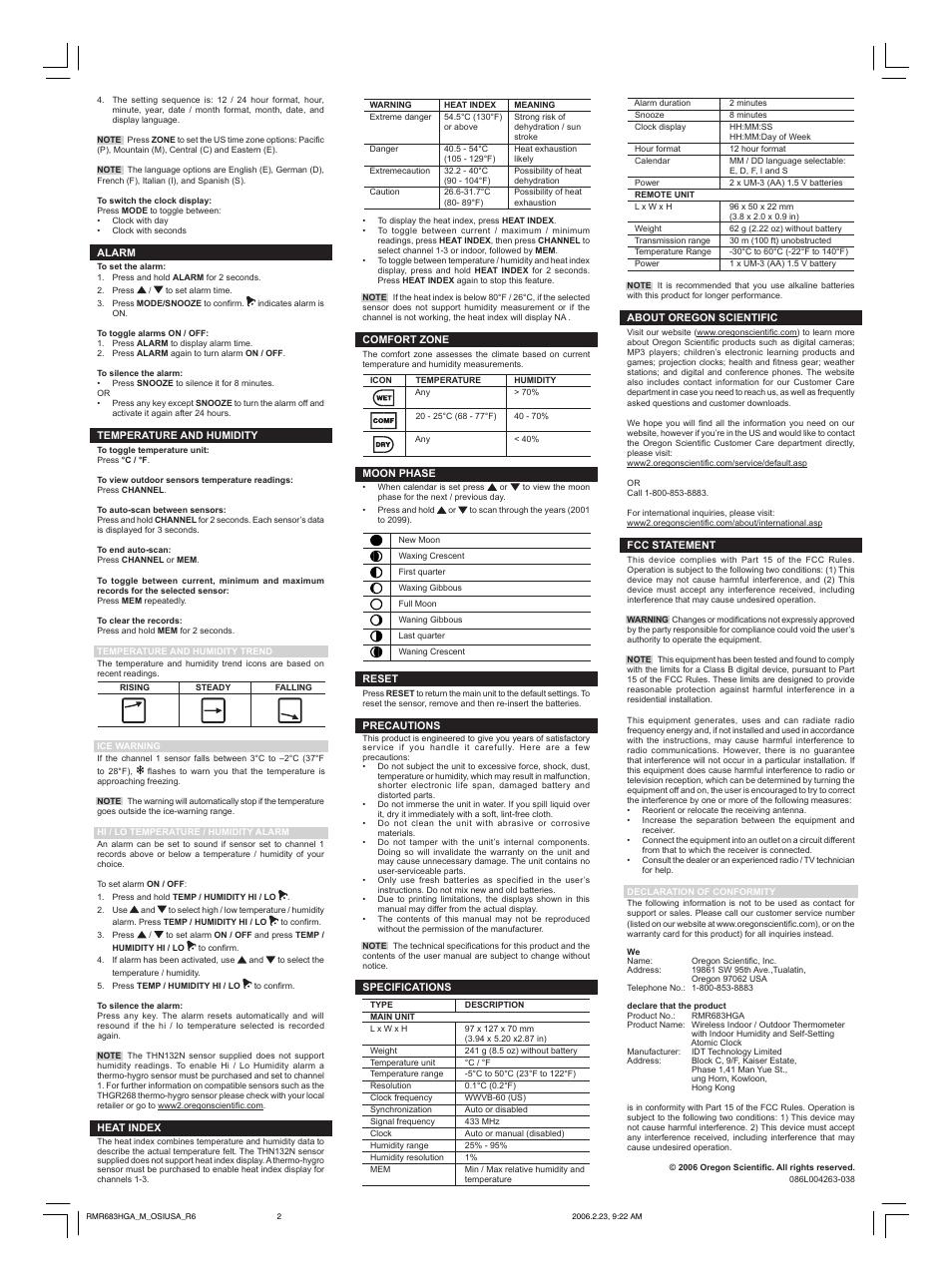 oregon scientific rmr683hga user manual page 2 2 rh manualsdir com
