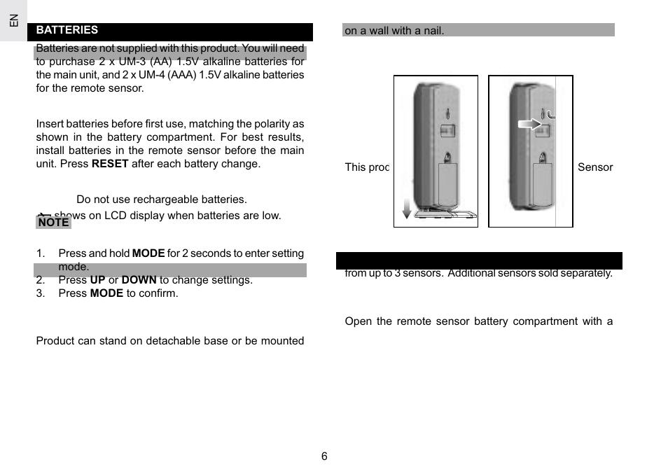 oregon scientific rar186 user manual page 6 15 rh manualsdir com