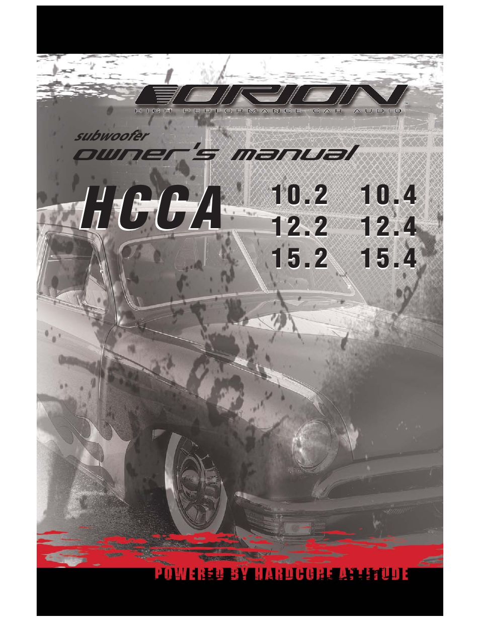 Orion Car Audio HCCA 15.2 User Manual | 23 pages | Also for: HCCA 12.4, HCCA  10.2, HCCA 12.2