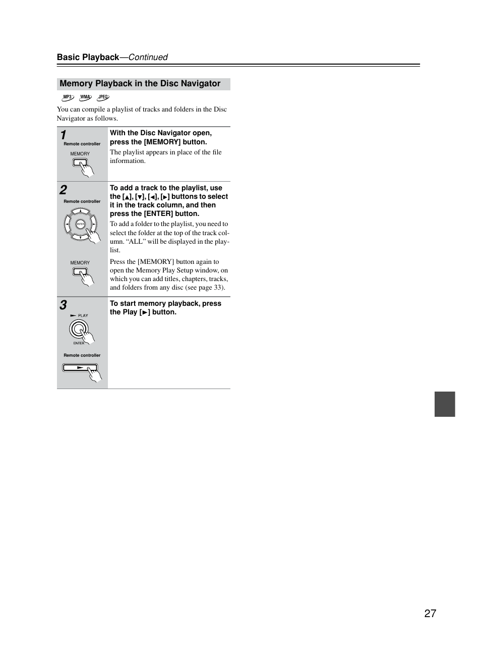 memory playback in the disc navigator onkyo dv cp702 user manual rh manualsdir com User Manual Word Manual Guide