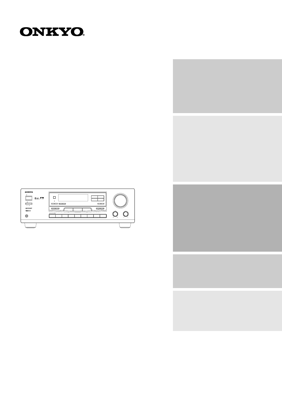 Onkyo TX-DS474 User Manual | 32 pages