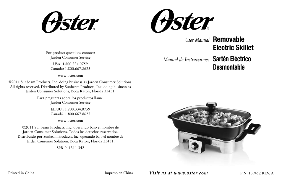 oster fryer user manual 20 pages rh manualsdir com Oster Instruction Manual Oster 4711 Food Steamer Manual