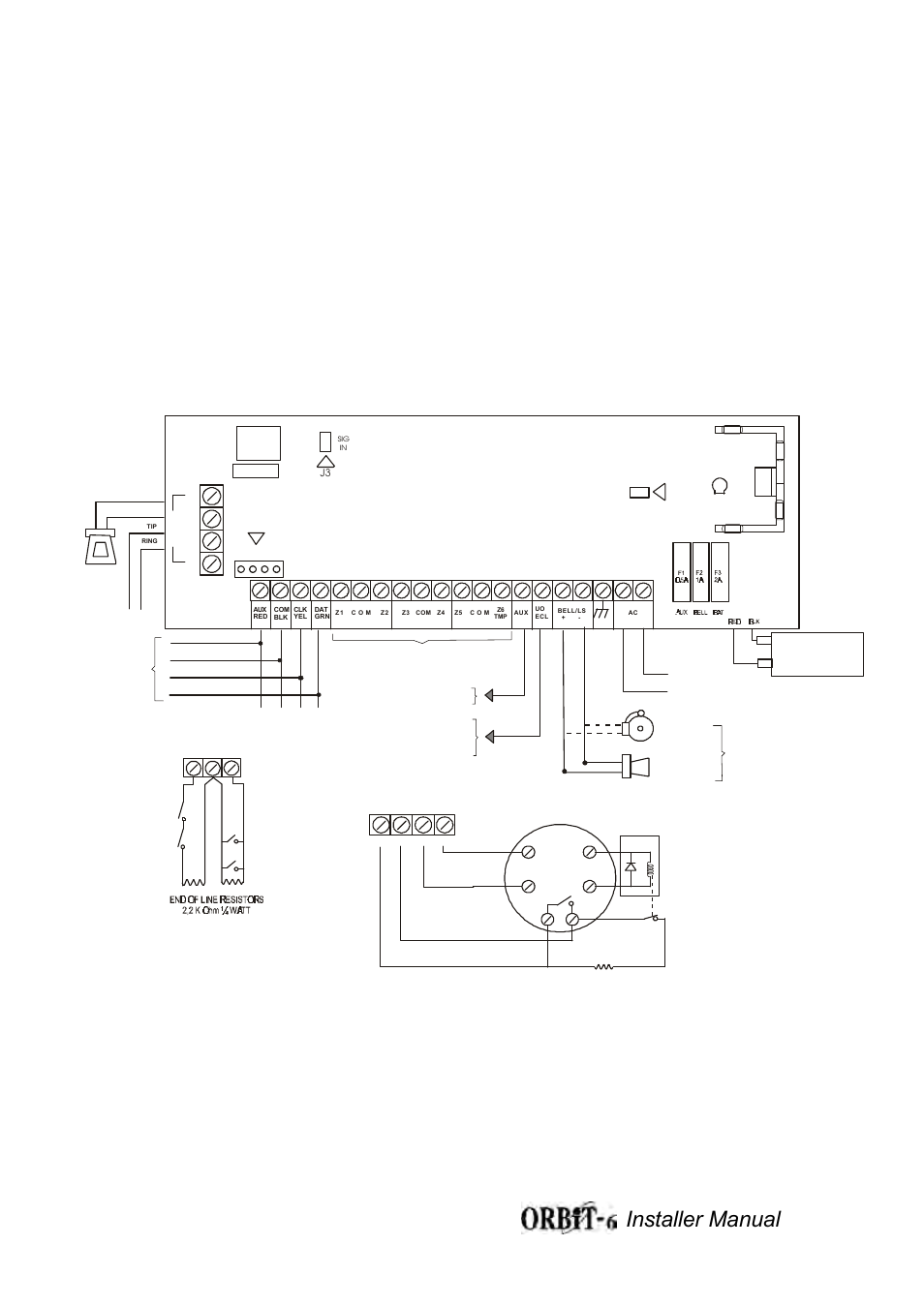 Orbit-6 wiring diagram figure 1a, Installer manual 32 | Orbit ... on bell 206 fuel tank, bell 206 remote control, bell 206 manual, bell 206 engine, bell 206 parts diagram, bell 206 electrical system, bell 206 dimensions, bell 206 seats, bell 206 fuel system,