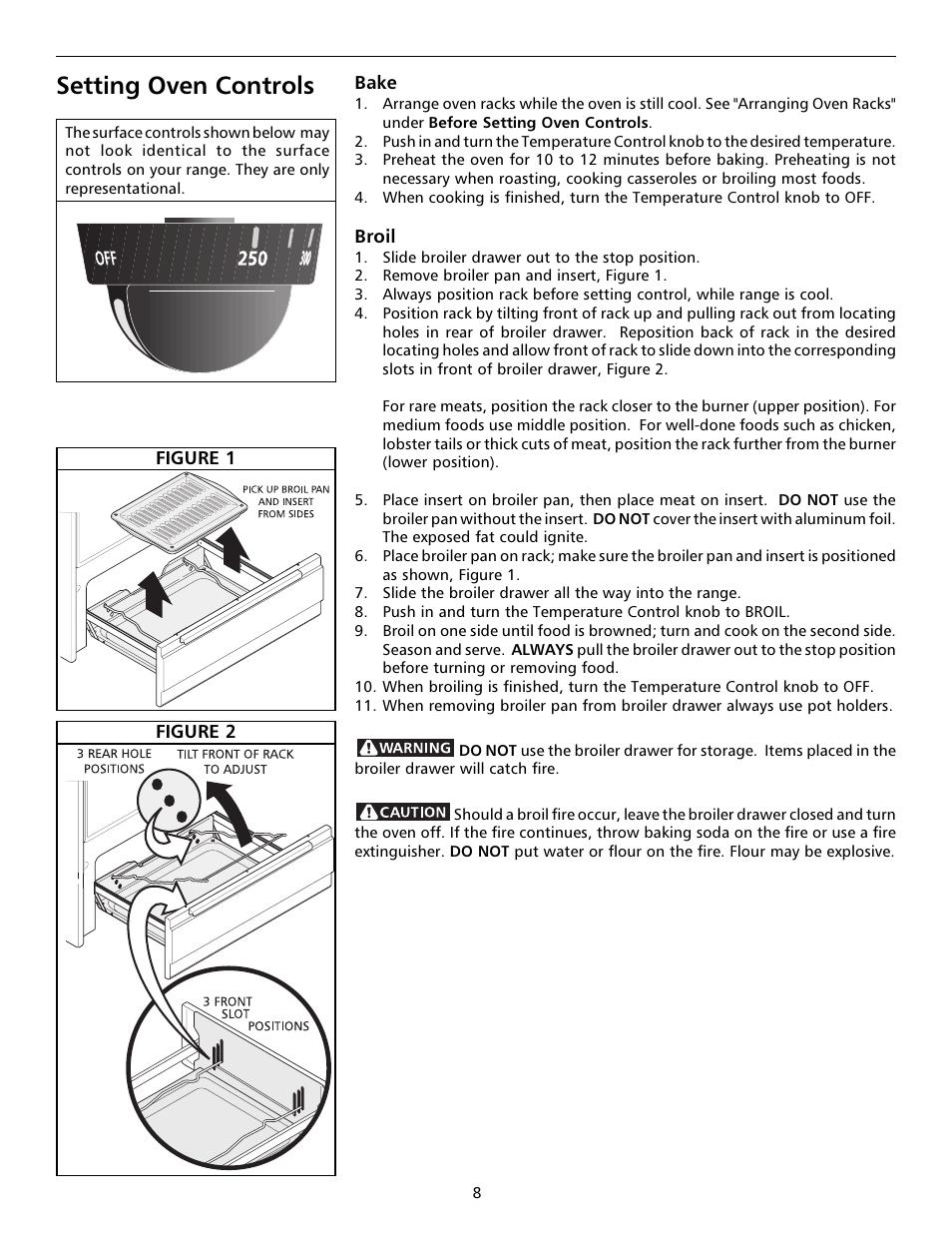 Setting oven controls | Tappan Millennia 316000189 User