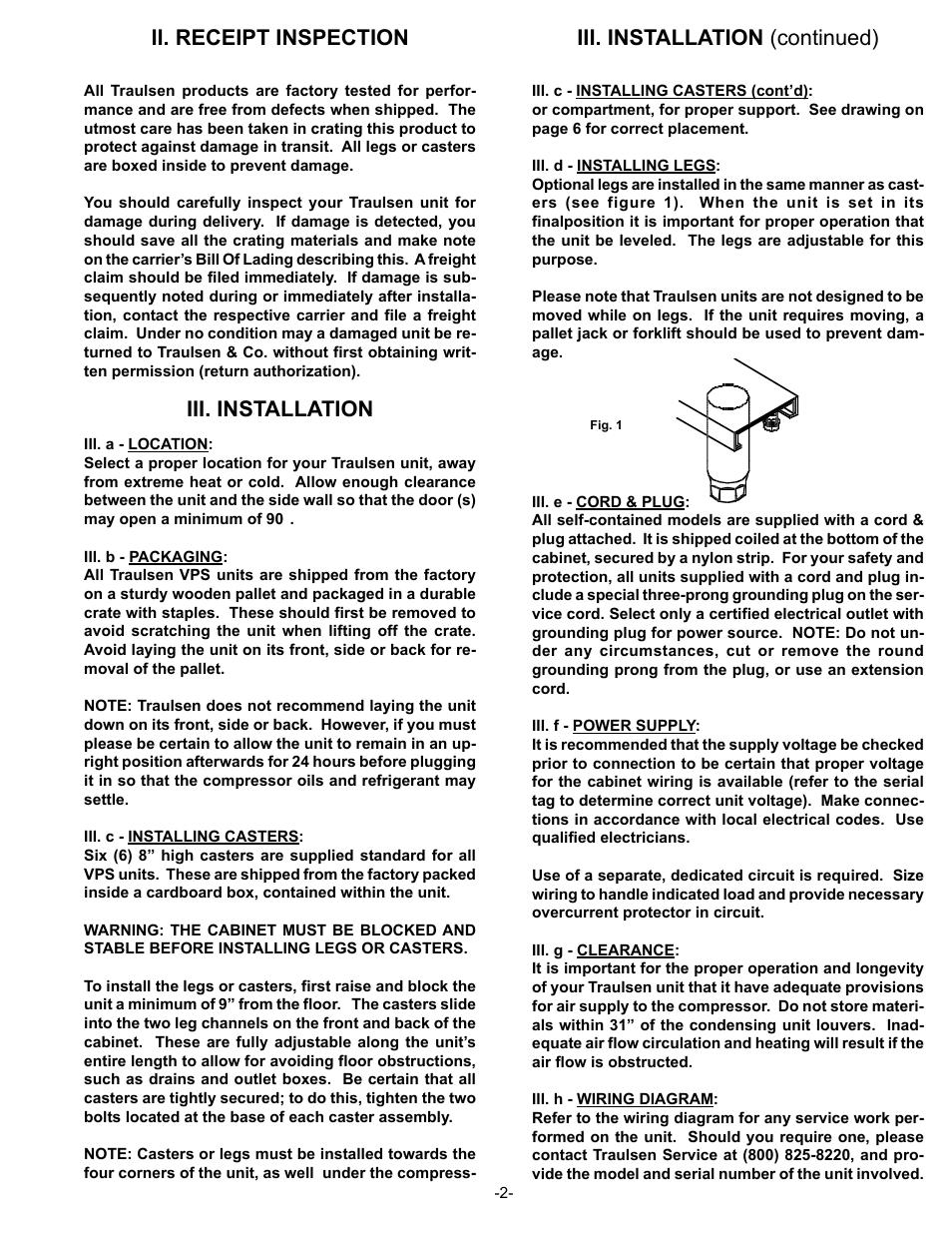 Traulsen vps48s wiring diagram wire center ii receipt inspection iii installation iii installation rh manualsdir com traulsen refrigeration parts breakdown traulsen refrigerator cheapraybanclubmaster Images