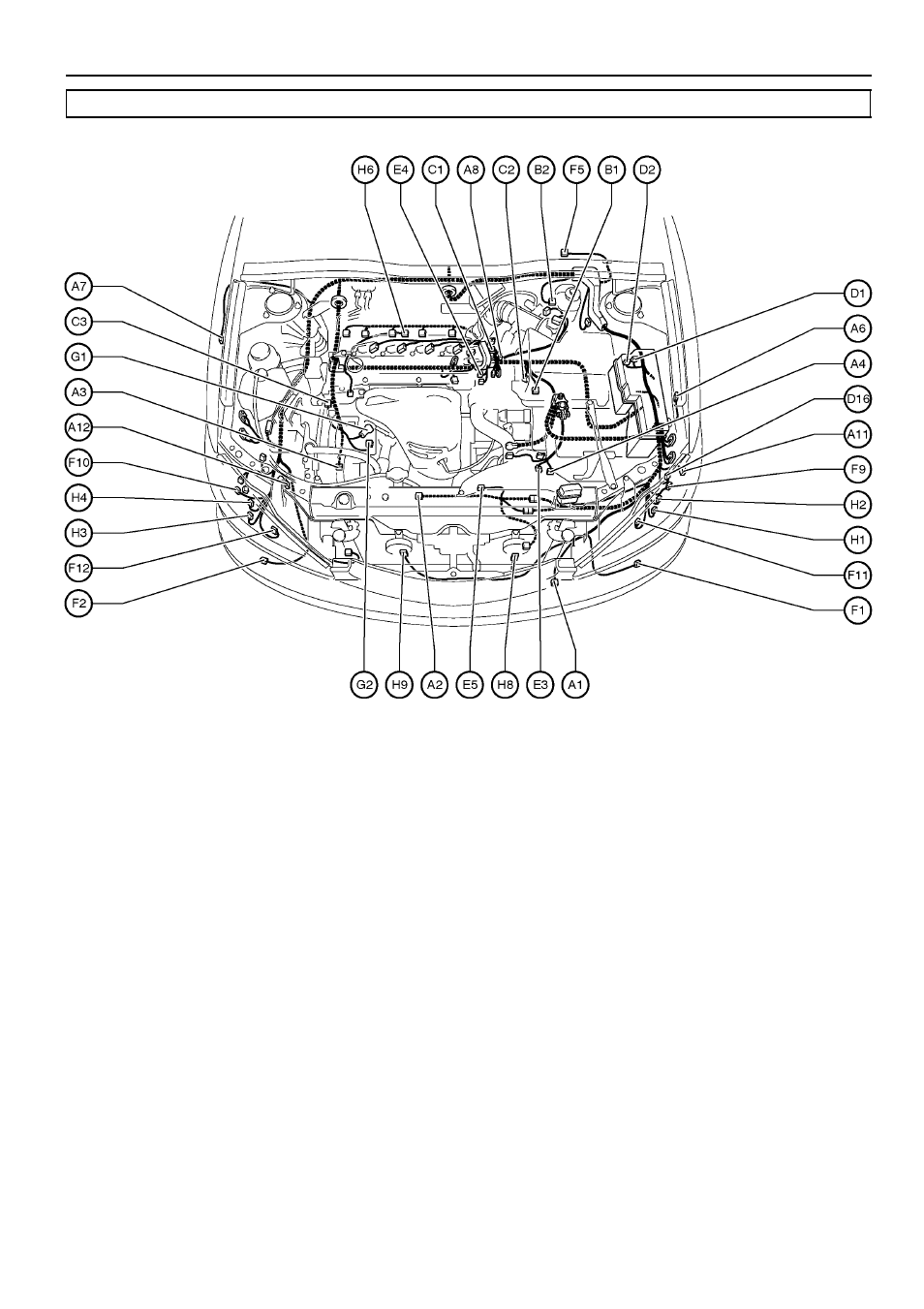 38 g electrical wiring routing, 2az–fe, Position of parts in engine  compartment