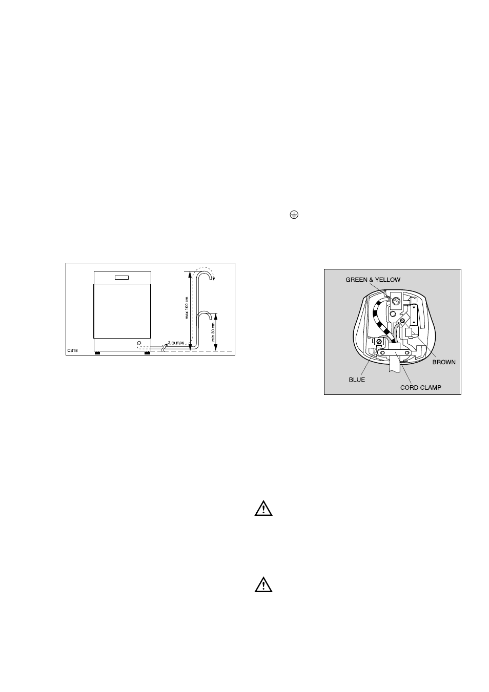 Water Outlet Hose Connection Electrical Tricity Bendix Wiring A Plug Earth Bdw 55 User Manual Page 18 20