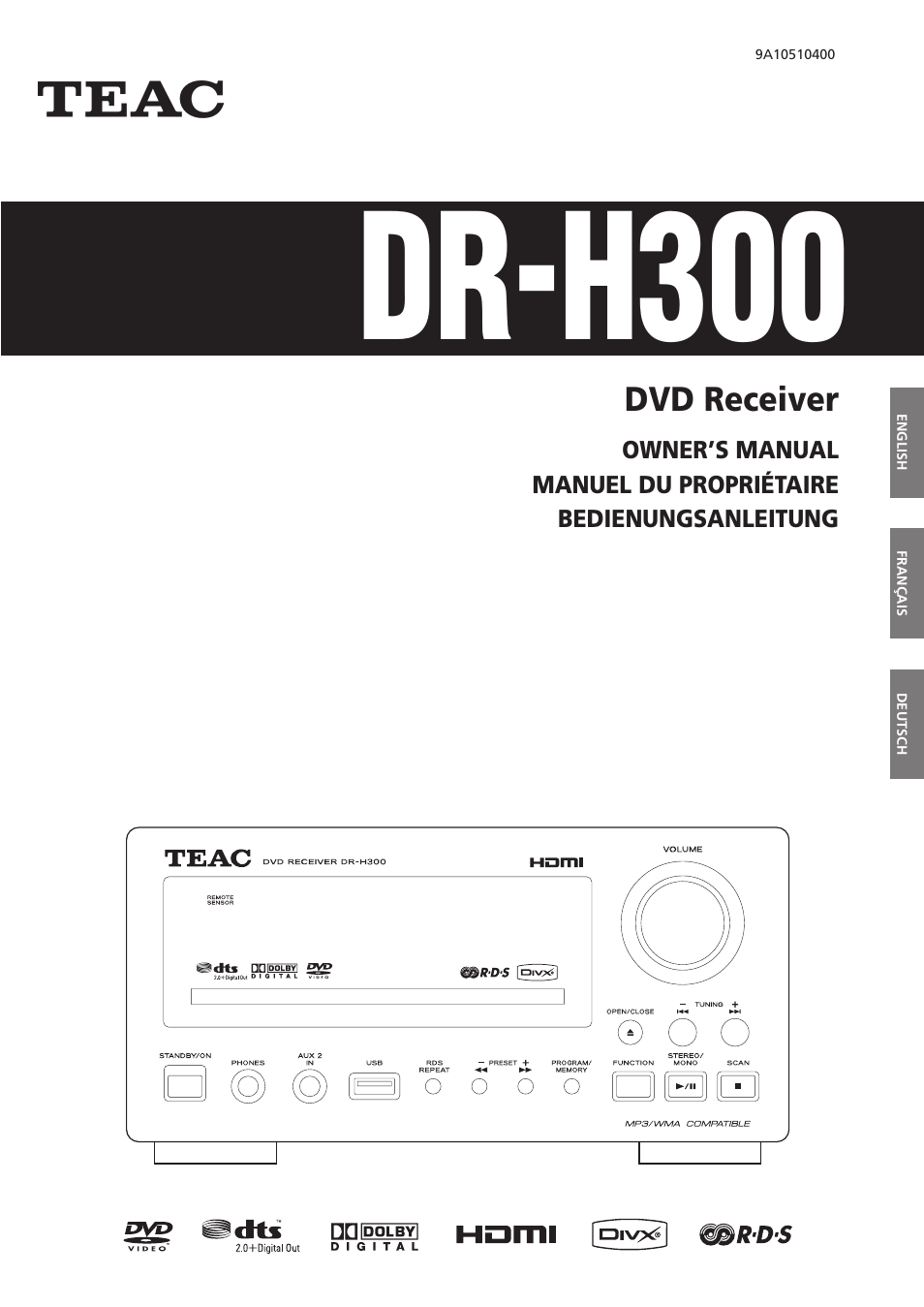 Teac DR-H300 User Manual   136 pages