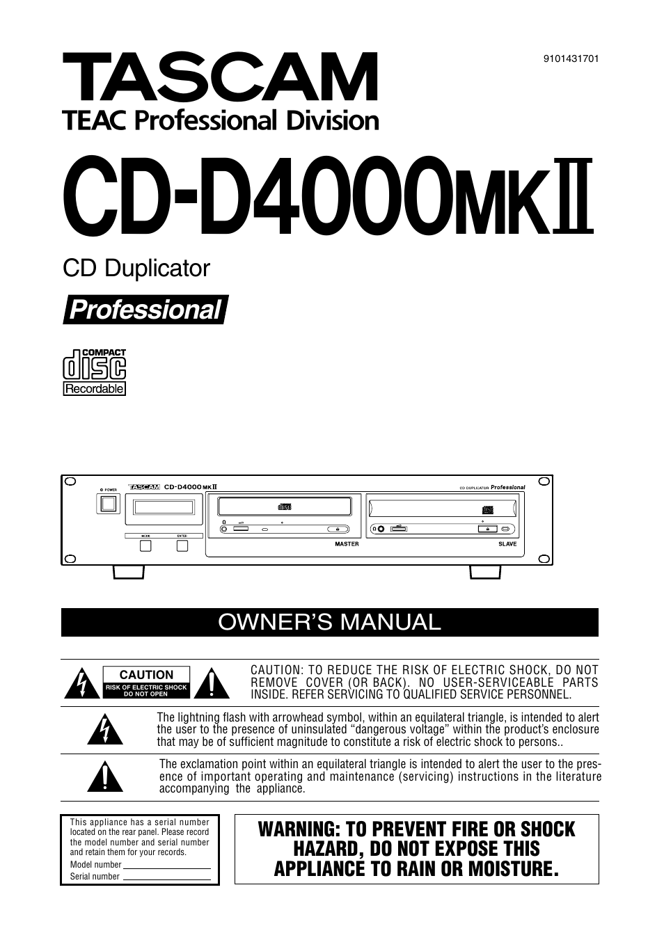 Tascam cd rw2000 service manual tascam cd dj1 array tascam cd d4000 mkii user manual 12 pages rh manualsdir fandeluxe Choice Image