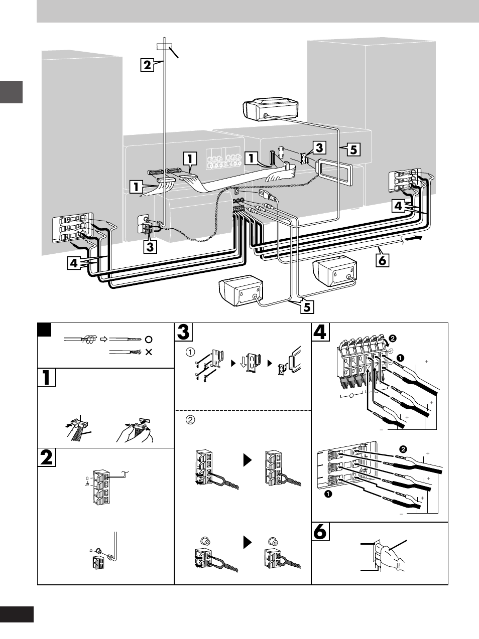 Basic connections | Technics SC-EH560 User Manual | Page 6