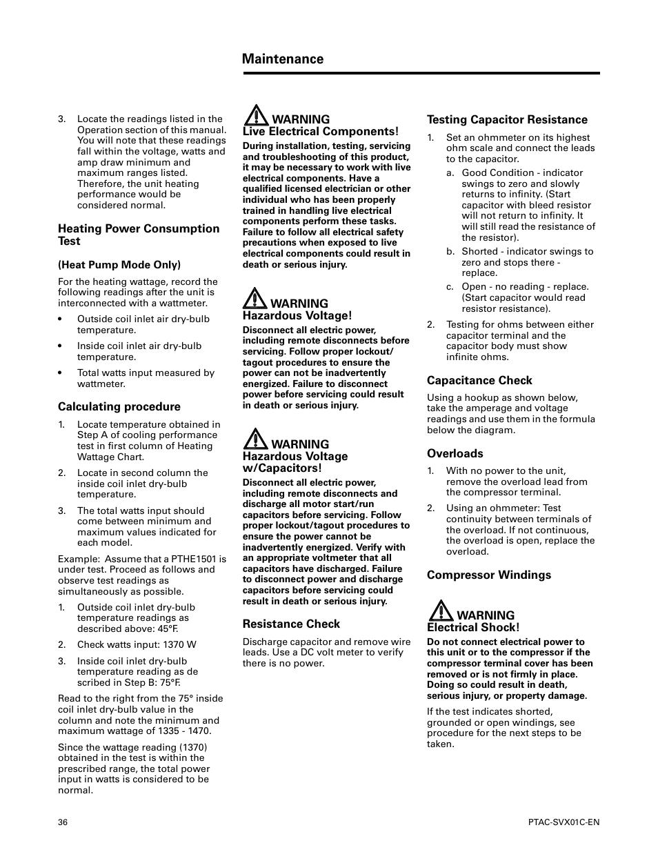 Heating power consumption test, Calculating procedure, Resistance