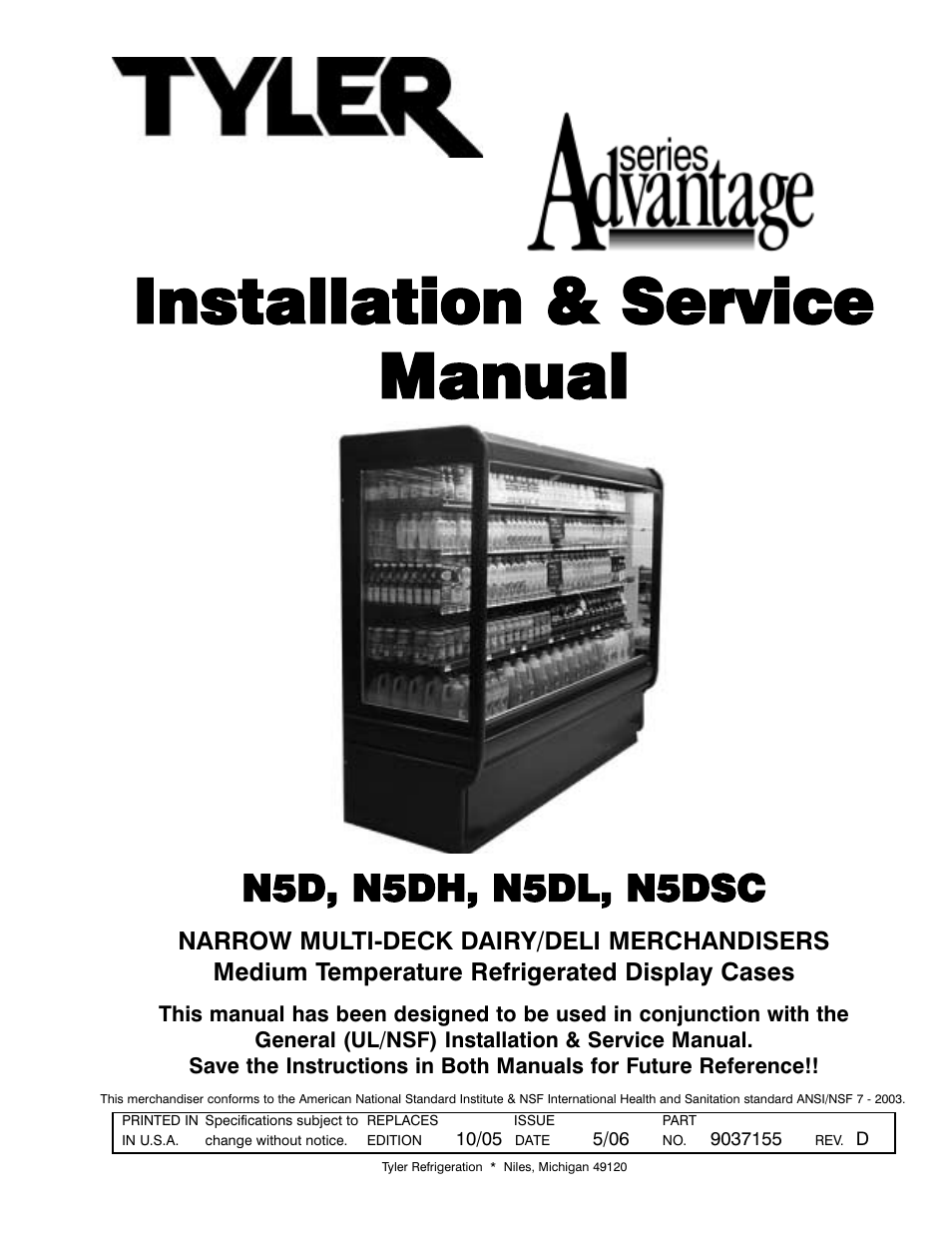 tyler refrigeration n5dsc user manual 21 pages also for n5dh rh manualsdir com